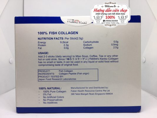 100% Fish Collagen Habberu Kenko Singapore