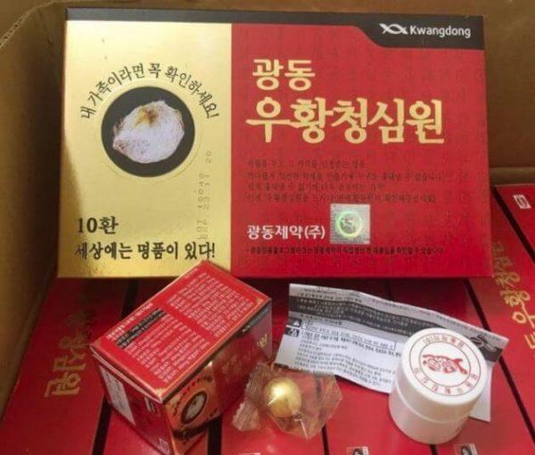 an cung ngưu tổ kén kwangdong hàn quốc hộp đỏ 10 viên