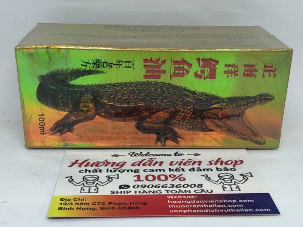 Dầu cá sấu Singapore crocodile oil