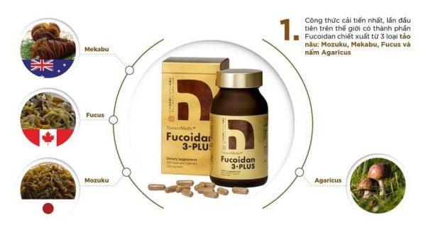 Fucoidan 3-Plus NatureMedic, Viên Uống Hỗ Trợ Điều Trị Ung Thư