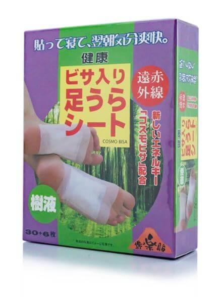 Miếng dán chân thải độc Cosmo Bisa - Nhật Bản hộp 36 miếng