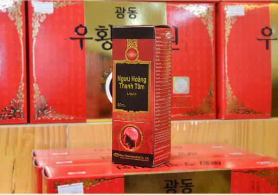 Ngưu hoàng thanh tâm liquid Hàn Quốc