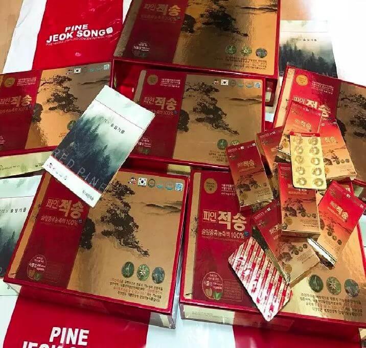 Tinh Dầu Thông Đỏ Pine Jeok Song Gold Hàn Quốc Cao Cấp 120 viên