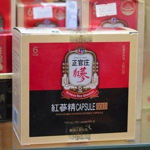 viên hồng sâm korean red ginseng extract gold capsule 100 viên