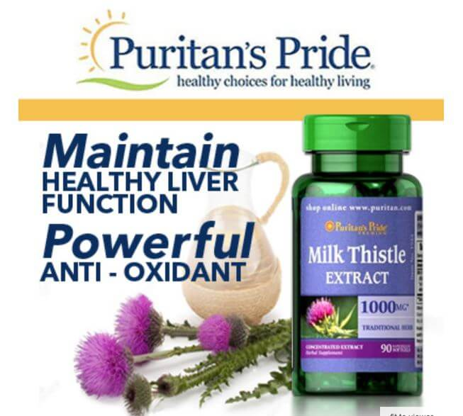 milk thistle extract puritan's pride