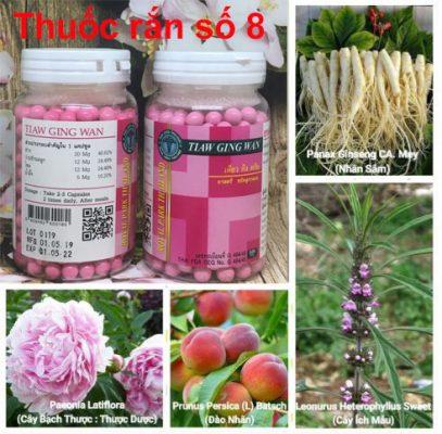 Thành phần thuốc rắn thái lan số 8 tiaw ging wan